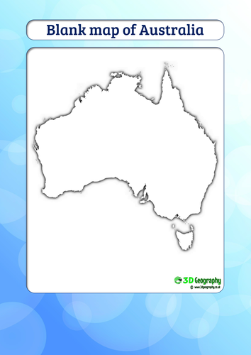Blank map of Australia by idj - Teaching Resources - Tes