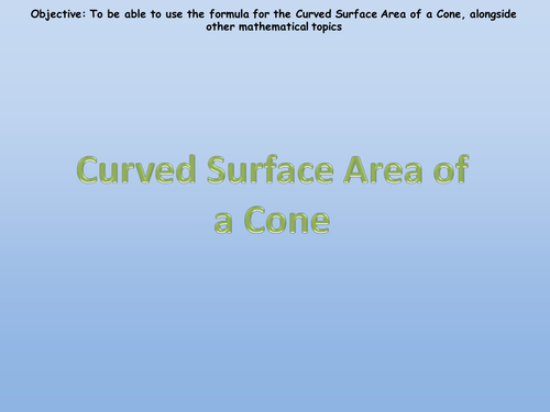 Surface Area of Pyramids and Cones