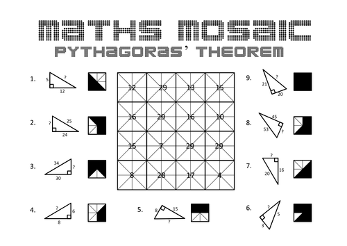 Pythagoras Puzzle By Danwalker Teaching Resources