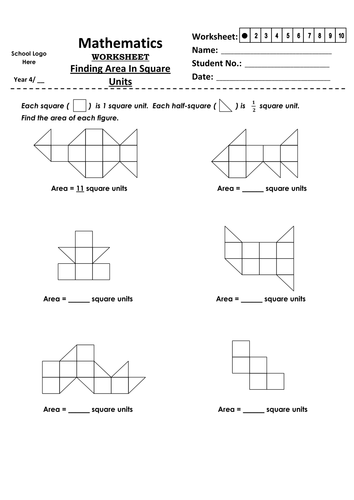 Year 4 Finding Area In Square Units By Jinkydabon Teaching