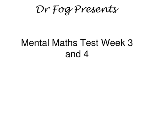 Year 5 PowerPoint Mental Maths Tests