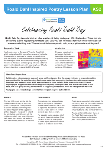 roald dahl inspired poetry lesson plan for ks2 by youngwriters teaching resources. Black Bedroom Furniture Sets. Home Design Ideas