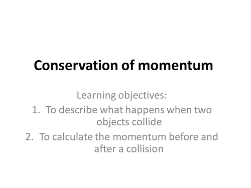Conservation of Momentum Questions by orme90 Teaching Resources – Worksheet Conservation of Momentum