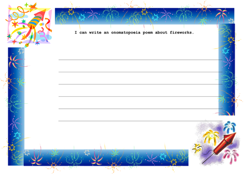 Firework Poem Writing Frame By Mcflyfan87 Teaching Resources Tes