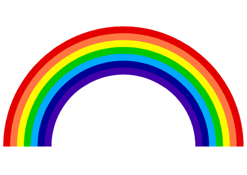 how to say the colours of the rainbow in french