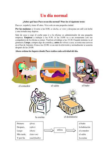 La rutina - Daily routine in Spanish