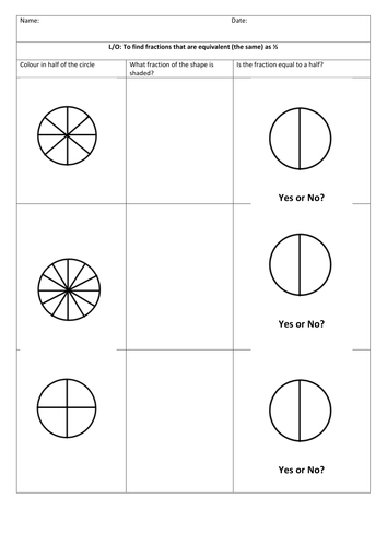 Fractions equivalent to half by sstokes26 - Teaching Resources - Tes