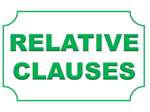 Relative Clauses Display