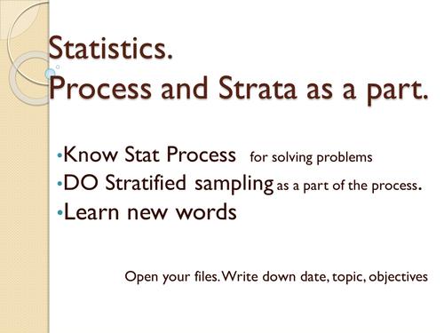 Statistics - intro, process, samples