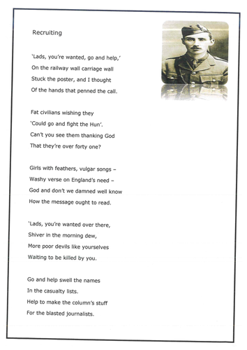 World War One worksheets by haditha - Teaching Resources - Tes