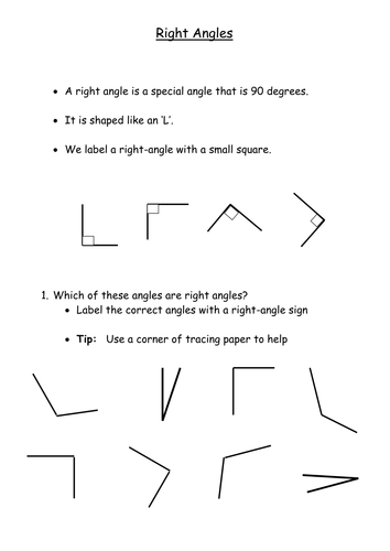 Right Angle Shapes : D shapes right angles by flukos teaching resources tes