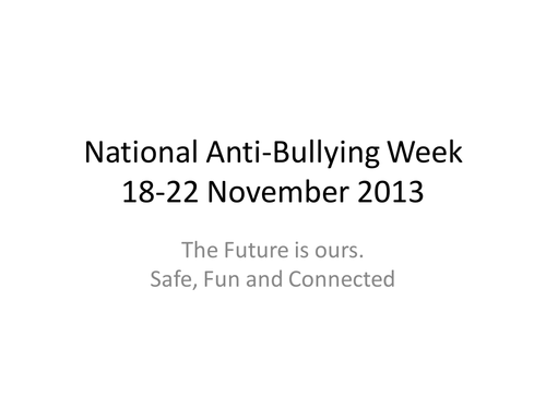 National Anti-bullying week