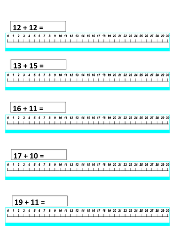 Number Line Worksheets : addition with number line worksheets ...