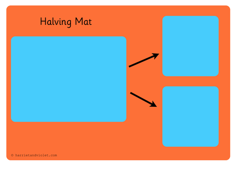 Halving Mat or Sharing Mat Groups of 2 | Teaching Resources