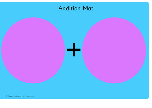 Addition Mat or Number Bond Mat... by PrintPlayLearn - Teaching ...