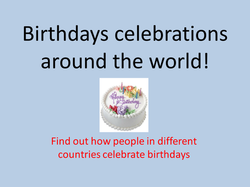 celebrating birthdays around the world