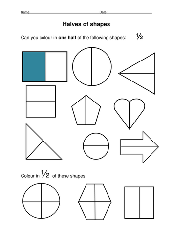 halving 2d shapes by anoakes1 teaching resources tes