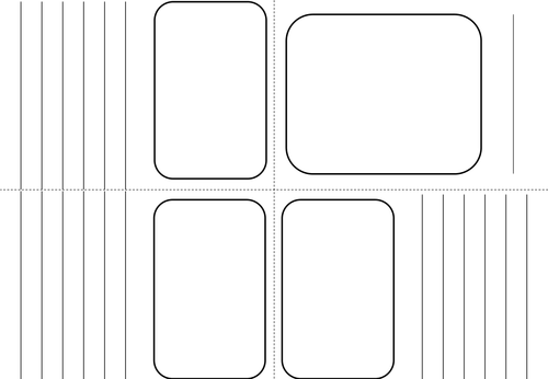 blank book template for kids - mini booklet template made from 1 sheet of a4 by bora bora