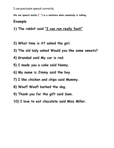 Adverbs And Speech Marks By Sue2309m Teaching Resources Tes