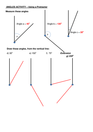 Angles Activity - Using a Protractor: Worksheet by clairerennie44 ...