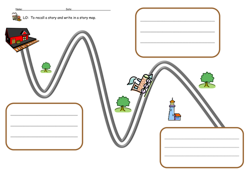 The Train Ride Story Map by stevm117 Teaching Resources Tes – Story Map Template