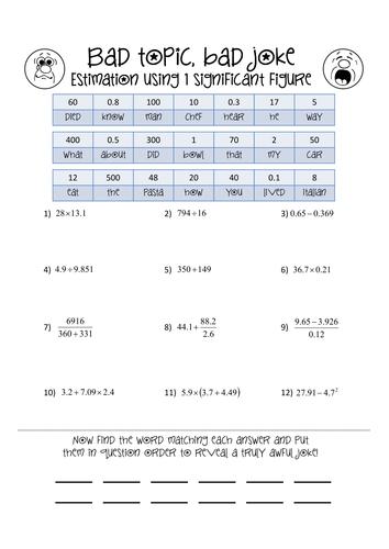 Standard form collect a joke by danwalker | Teaching Resources