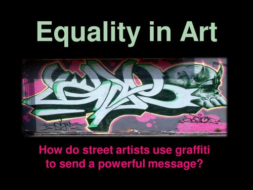 Equality in Art (Co-constructive graffiti lesson)
