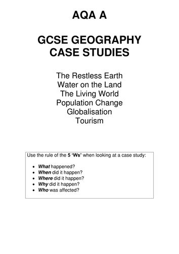 english essay writer   A Guide For College Essays  geography case     AQA GCSE Geography   nine mark case study question   support booklet by  CharlotteBrimer   Teaching Resources   Tes