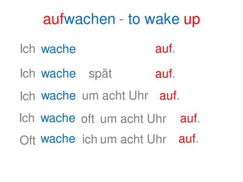 Separable verbs - Word order