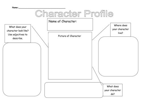 {Character Profiles by Beckieboo90 Teaching Resources TES – Character Profile Worksheet