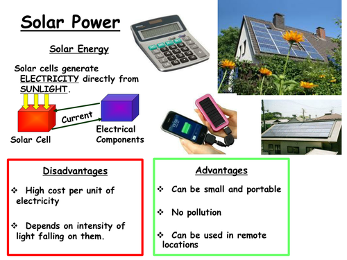 Renewable energy resources Fact sheets