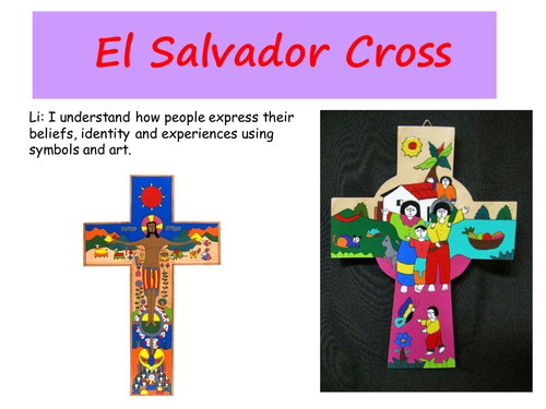 El Salvador Cross By Sarahunderwood Teaching Resources Tes