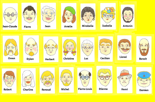 Physical description- Guess who characters