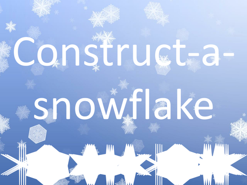 Construct-a-snowflake