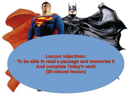 batman lesson
