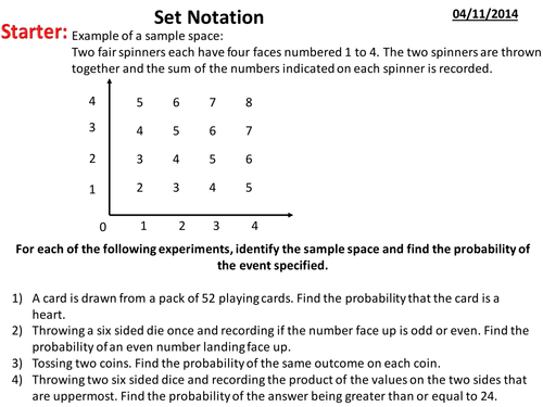 Set Notation Introduction To Venn Diagrams By