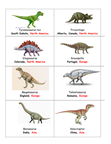 dinosaur fossils and locations by littleprettythings teaching resources tes. Black Bedroom Furniture Sets. Home Design Ideas