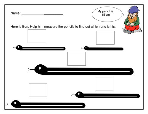 Simple measuring length worksheet by littleprettythings Teaching – Measuring Length Worksheet
