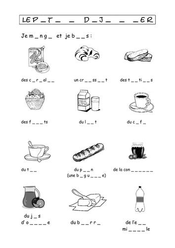 La Nourriture - Le petit dejeuner