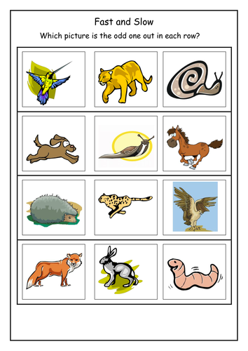 Fast And Slow Flashcards By Lbrowne Teaching Resources Tes