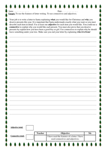 Christmas letter to santa by joelroutledge teaching resources tes spiritdancerdesigns