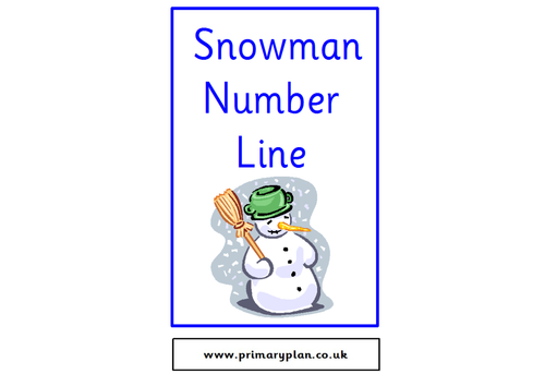 Snowman Number Line 0-20