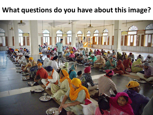 Sikh belief in Sewa with the example of the langar