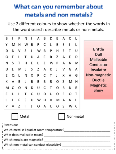 Metals and non metals properties wordsearch by hazel86 an 80 year metals and non metals properties wordsearch by hazel86 urtaz Choice Image