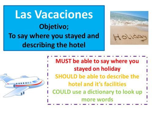 Mis Vacaciones by wealj002 - Teaching Resources - Tes