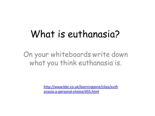 Nature of euthanasia