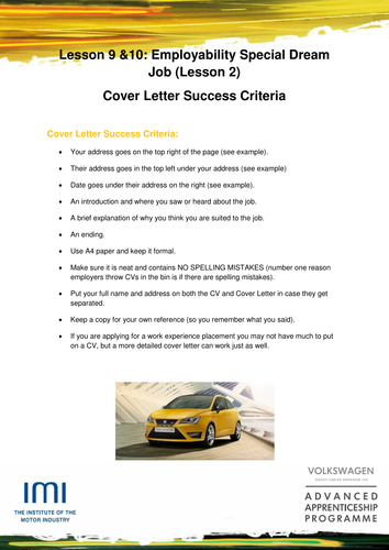 Cover letter employability: IMI Headlight English by IMI_SSC ...