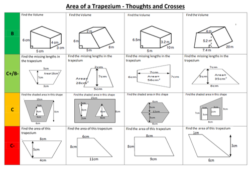 Area _ Volume of trapezium Thoughts and Crosses