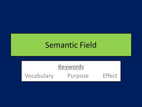 Semantic Field - Lesson
