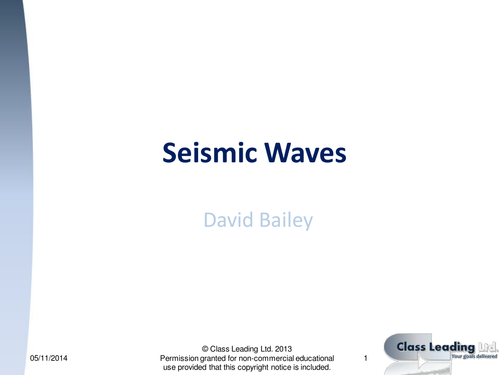Seismic Waves - graded questions